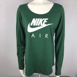 NIke Air Green Long Sleeve Large